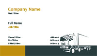 Black and Gold Trucking Business Card Template